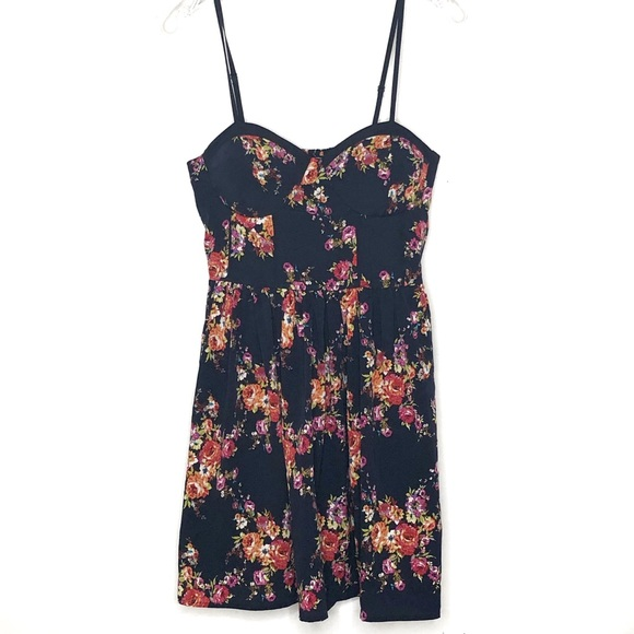 Band of Gypsies Dresses & Skirts - Band of Gypsies navy floral bustier dress - 448